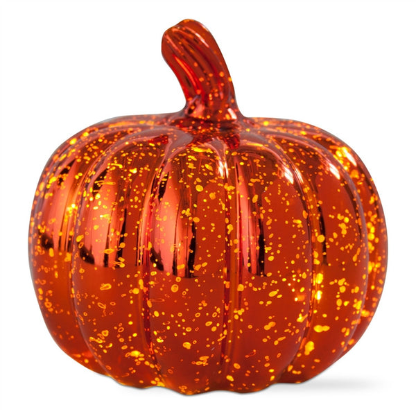 LED Mercury Glass Pumpkin, Large