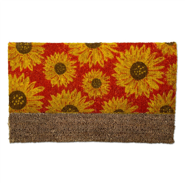Sunflower Boot Scrape Coir Mat