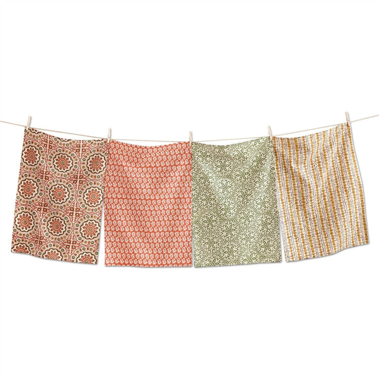 Sundari Block Dishtowels, Set of 4