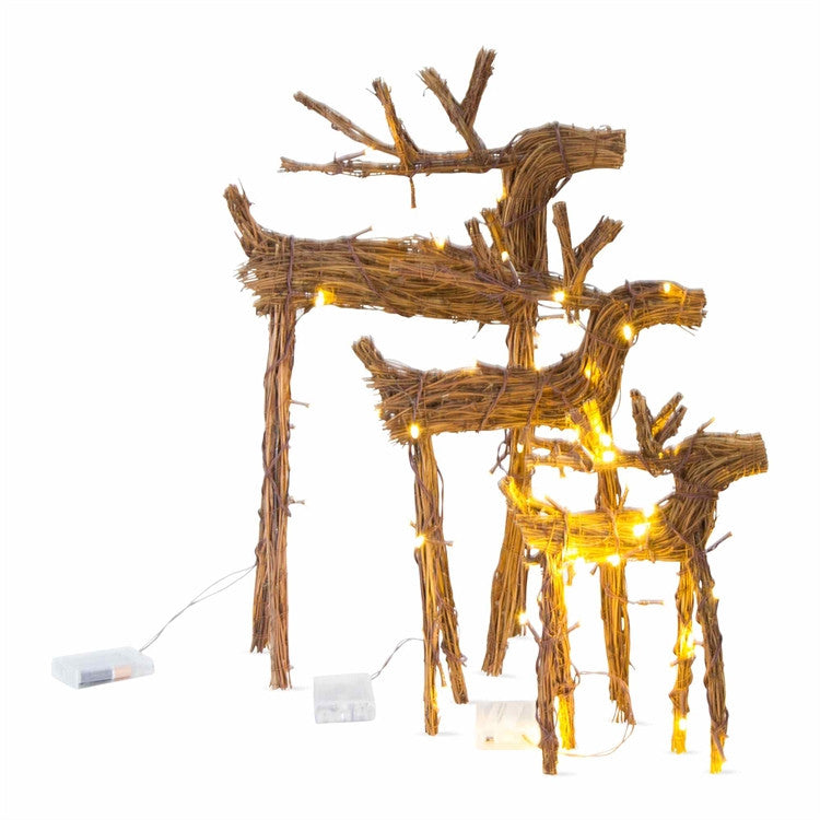 Woodland LED Vine Reindeer, Set of 3
