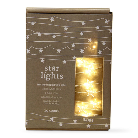 Tag LED Star Shaped Wire Lights – tag Home Decor