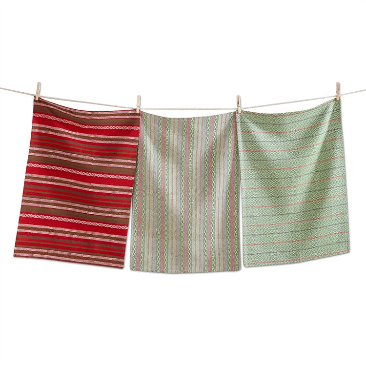 Timber Woven Dishtowels, Set of 3