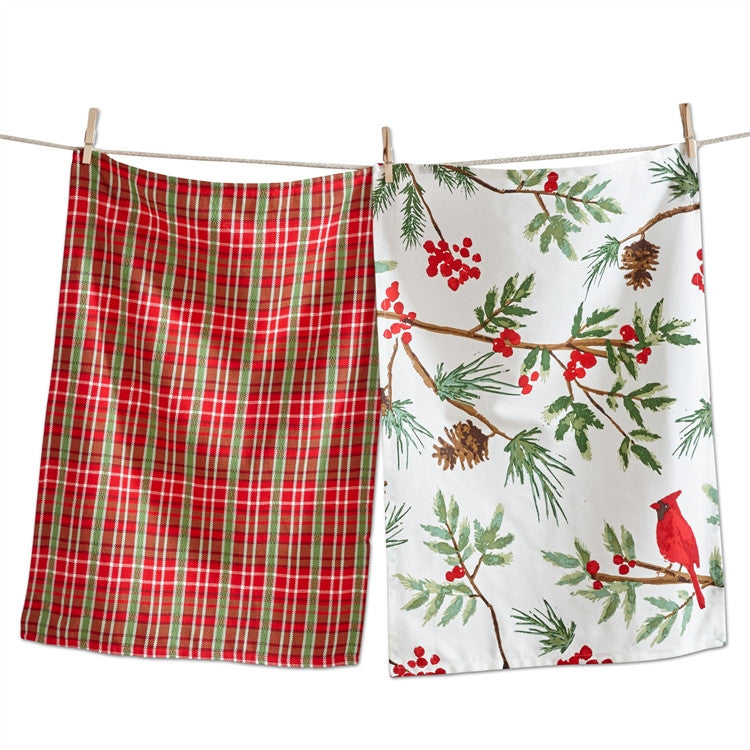 Cardinal Dishtowels, Set of 2