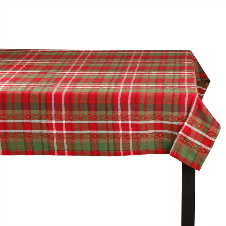Deck The Halls Plaid 60x84 Tablecloth