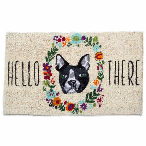 Hello There Dog Coir Mat