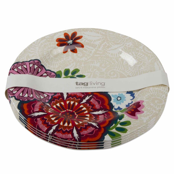Talavera Melamine Dinner Plates, Set of 4