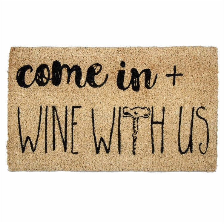 Come In and Wine Coir Mat