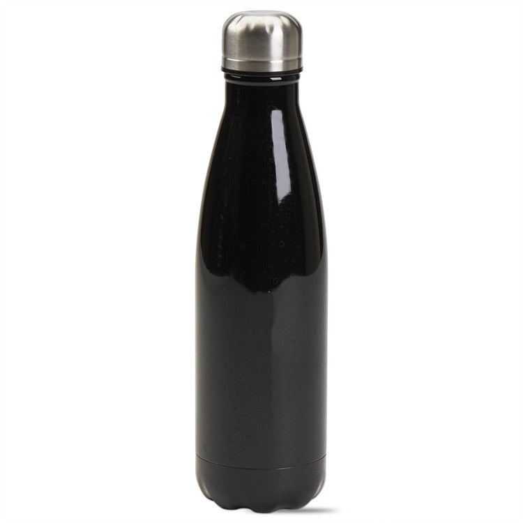 Tag Quench 16 Ounce Double Walled Stainless Steel Bottle, Black