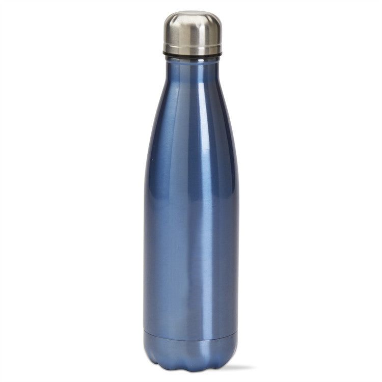 Tag Quench 16 Ounce Double Walled Stainless Steel Bottle, Blue