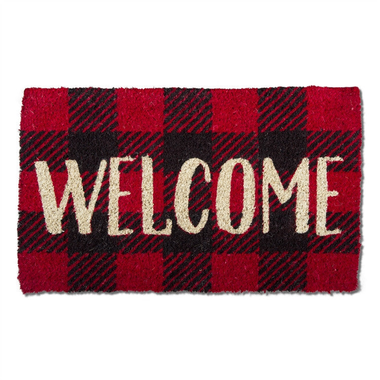 Welcome Check Coir Mat