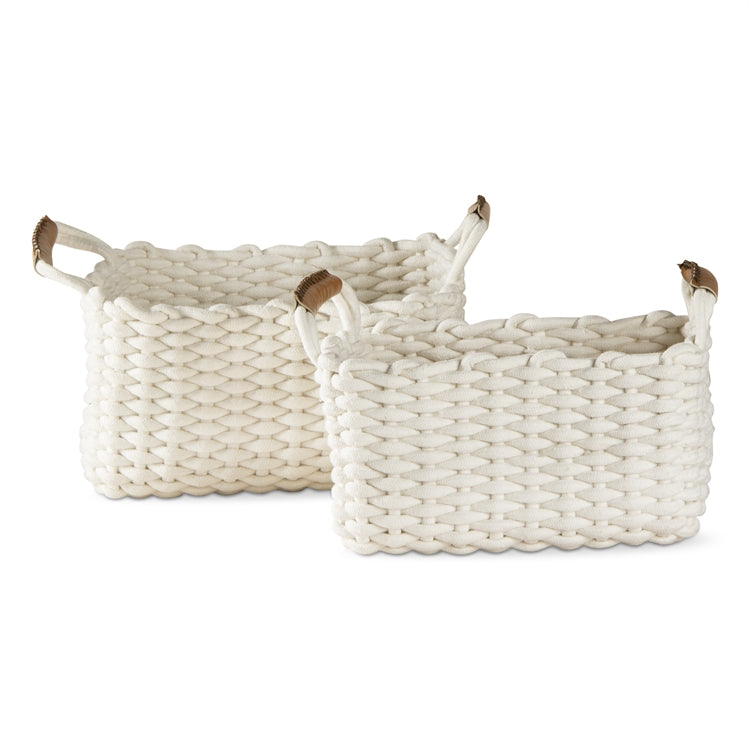 Chunky Knit Cord Baskets, Set of 2