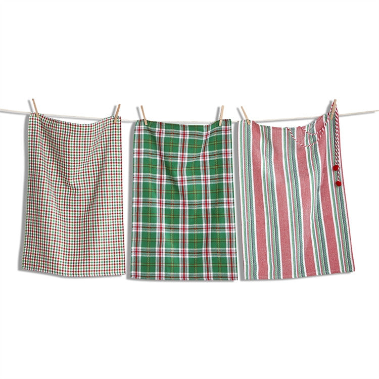 Yuletide Dishtowels, Set of 3
