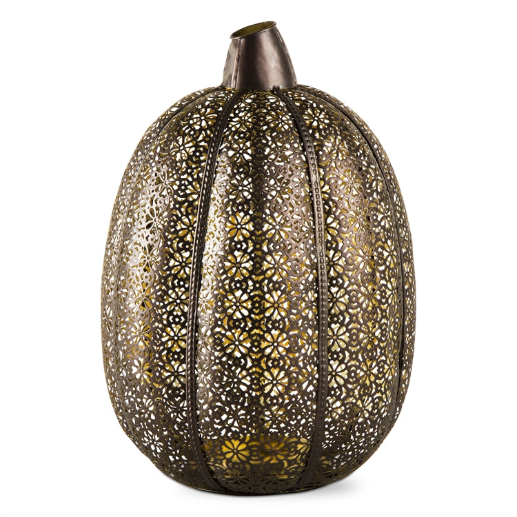 Large Filigree Pumpkin Lantern