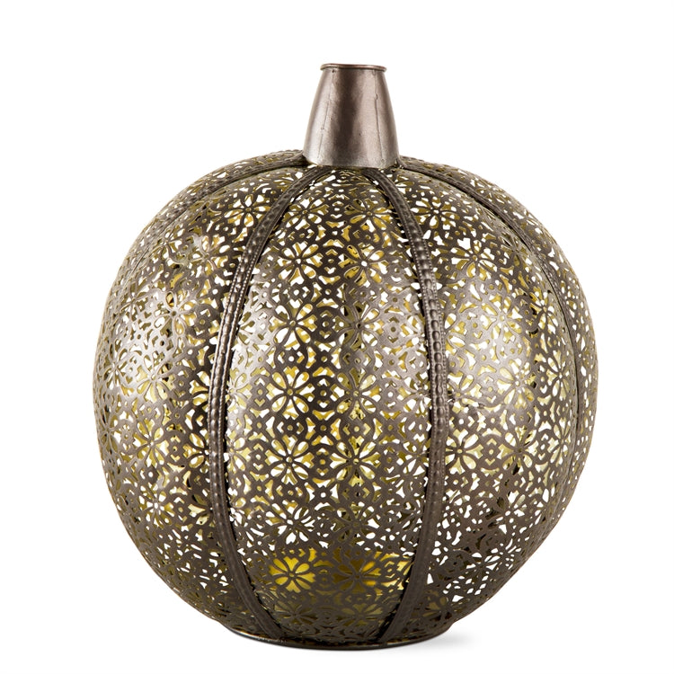 Medium Filigree Pumpkin Lantern