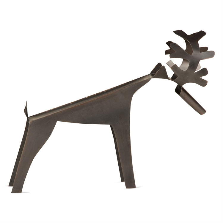 Stag Sculpture Wine Bottle Holder
