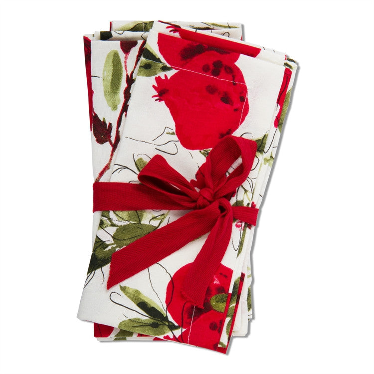 Pomegranate Botanical Napkins, Set of 4