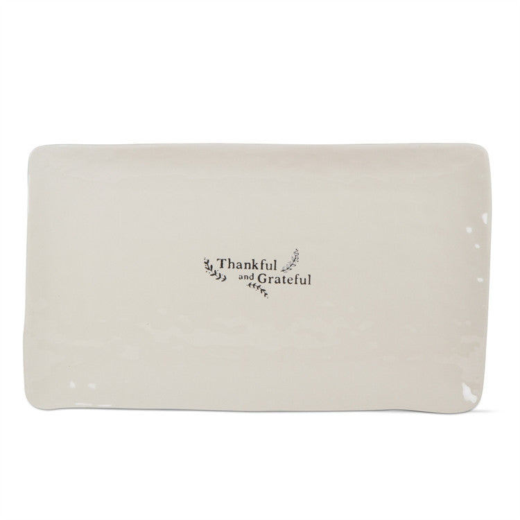 Thankful And Grateful Rectangular Platter