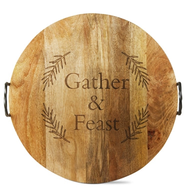 Gather And Feast Handled Serving Board
