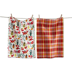 Love Bugs Dishtowels, Set of 2