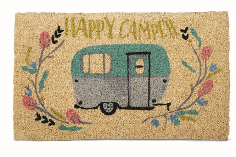 Happy Camper Coir Mat