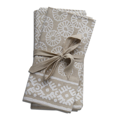 Canyon Block Print Napkins, Set of 4