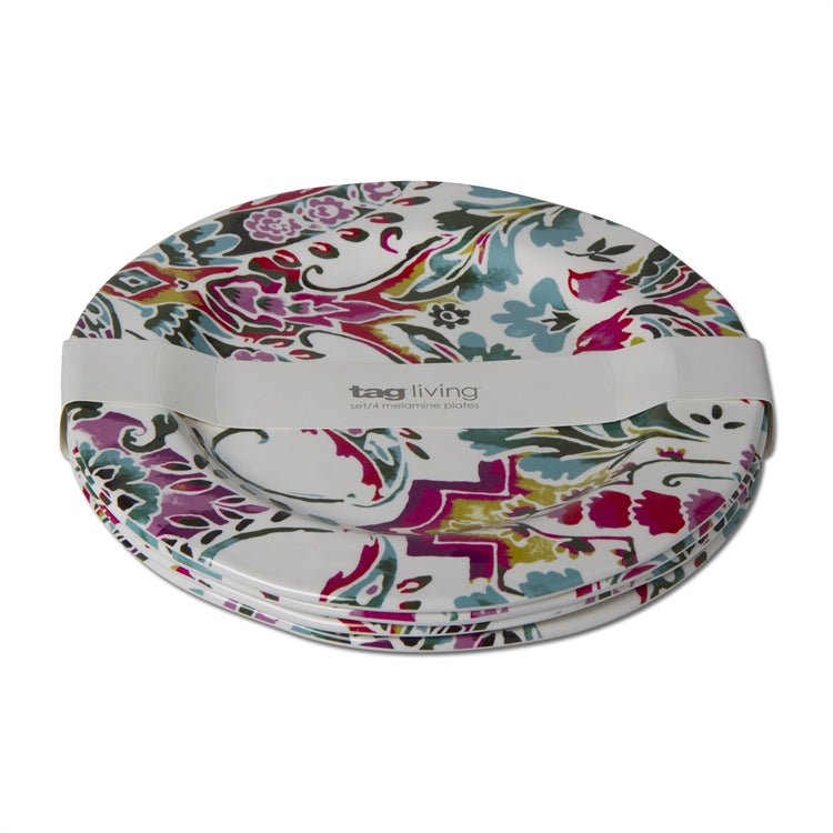 Eden Melamine Dinner Plates, Set of 4