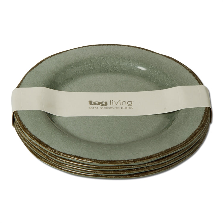 Slate Blue Veranda Melamine Salad Plates, Set of 4