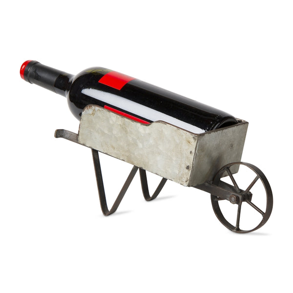 Wheelbarrow Wine Bottle Holder