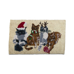 Holiday Cats Coir Mat