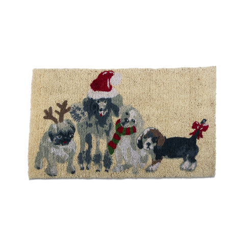 Holiday Dogs Coir Mat