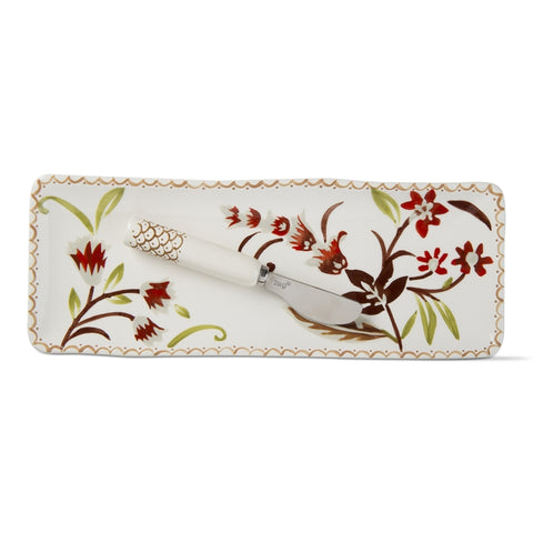 Autumn Bloom Small Platter And Spreader, Multi Harvest, Set of 2