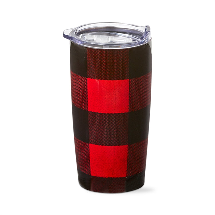 Buffalo Check 18 oz Stainless Steel Tumbler