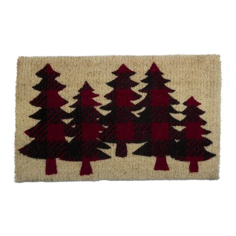 Buffalo Check Trees Coir Mat