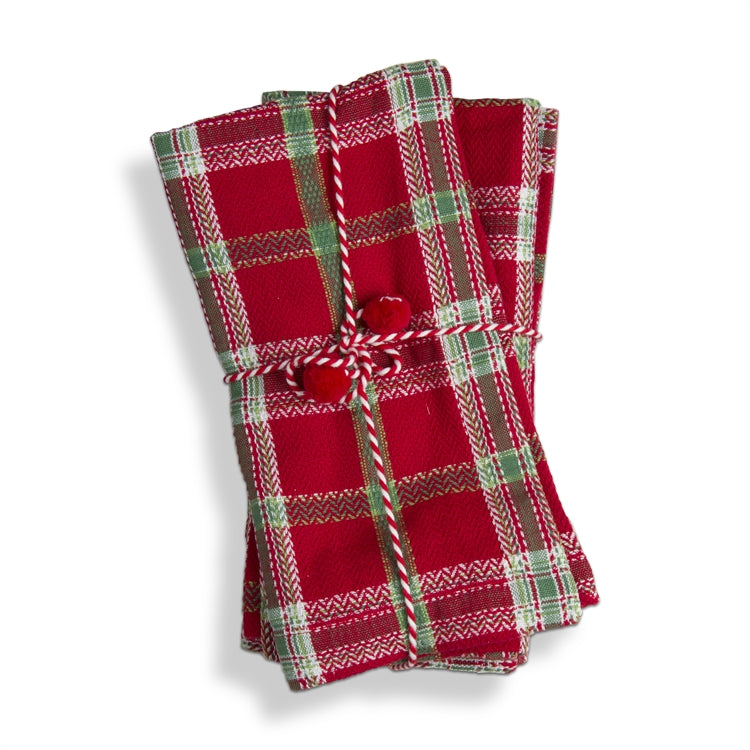 Joyful Plaid Napkins, Set of 4