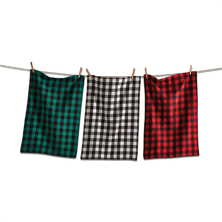 Buffalo Check Dishtowels, Set of 3