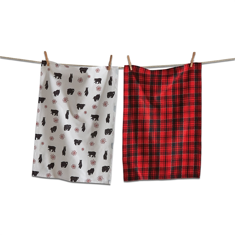 Lodge Bear Dishtowels, Set of 2