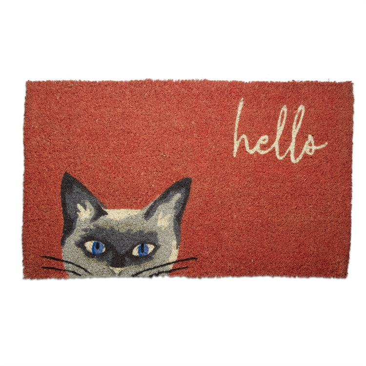 Hello Cat Coir Mat