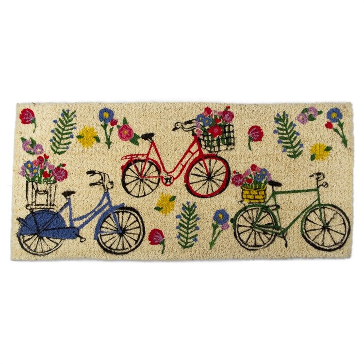 Bike Floral Estate Coir Mat