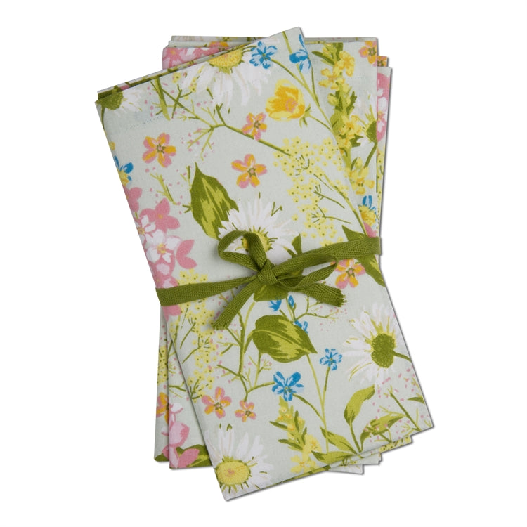 Daisy Floral Napkins, Set of 4