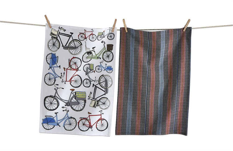 Graphic Bike Dishtowels, Set of 2