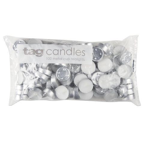 Bulk Tealight Candles, Pack of 100