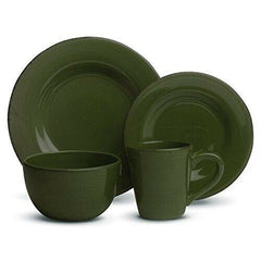Moss Green Sonoma 16-Piece (4 x 4-Piece) Place Setting for 4