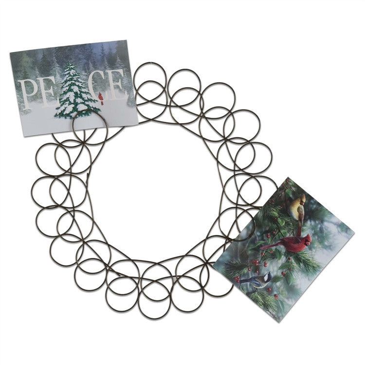 Spiral Wreath Greeting Card Holder