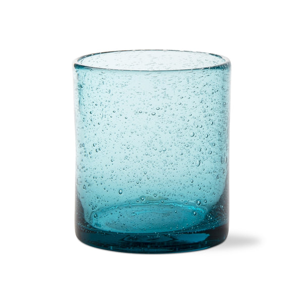 Aqua Bubble Glass Double Old Fashioned, Set of 6
