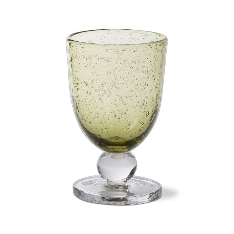 Foliage Bubble Glass Goblets, Set of 6