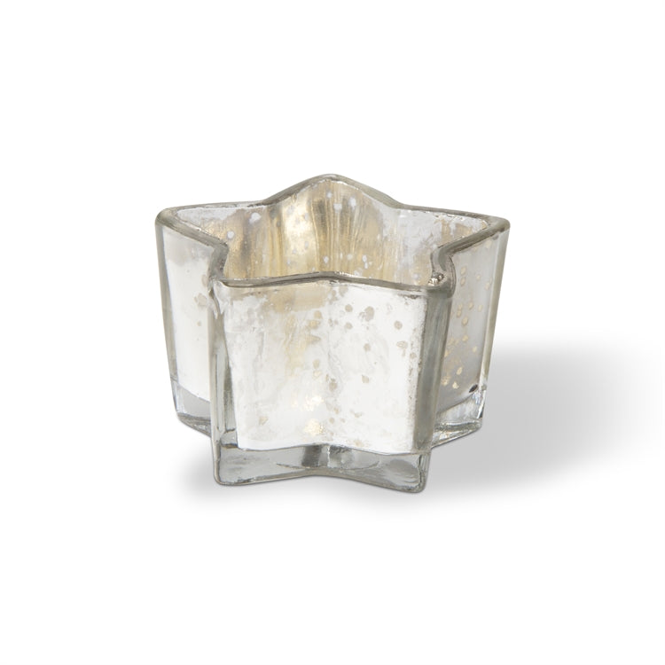 Star Tealight Holder, Silver