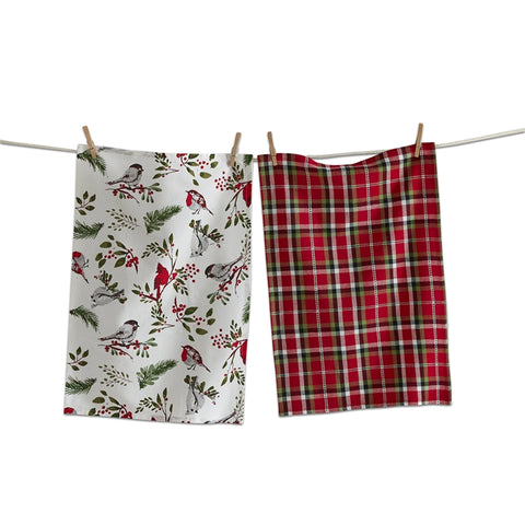 Birds and Berries Dishtowels, Set of 2