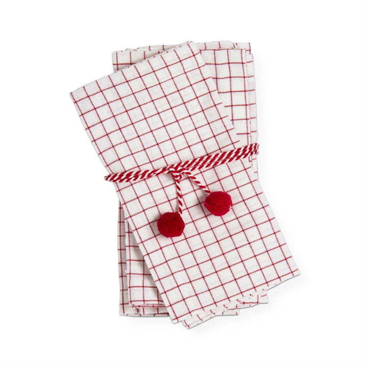 Check Napkins, Set of 4