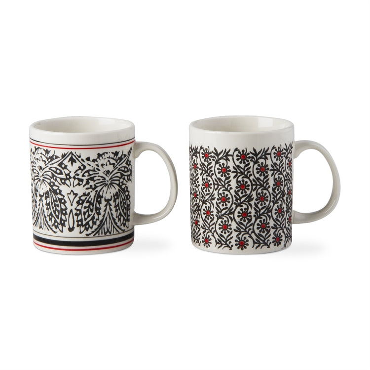Khilana Wax Resist Mugs, Set of 2