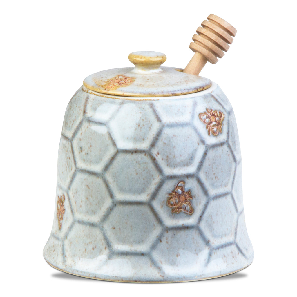 Beehive Honey Pot and Dipper Set